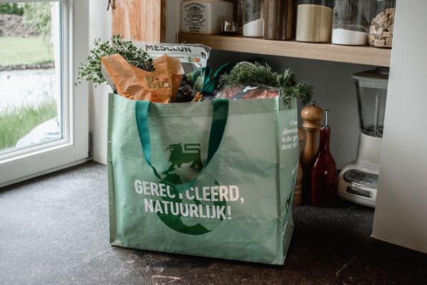 Draagtas Delhaize recycled